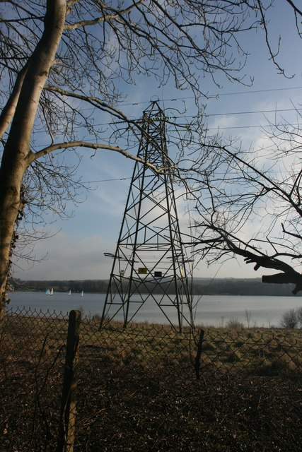 Pylon by Weirwood Reservoir