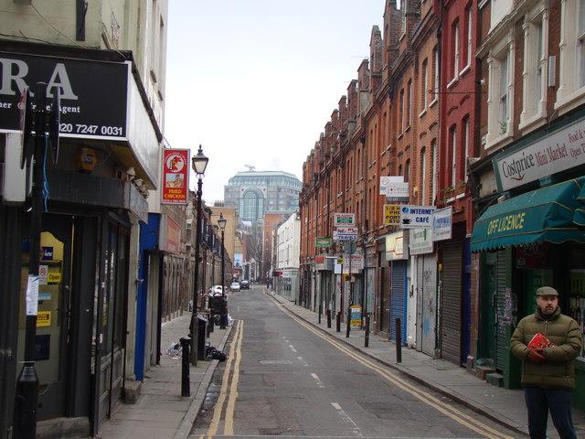 View down Fashion Street from Brick Lane