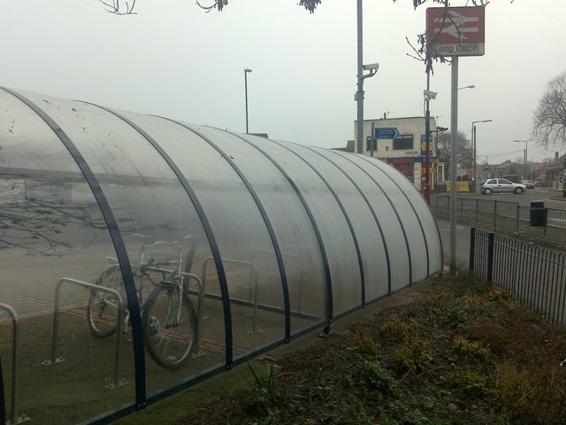 Bike shelter, Long Eaton station