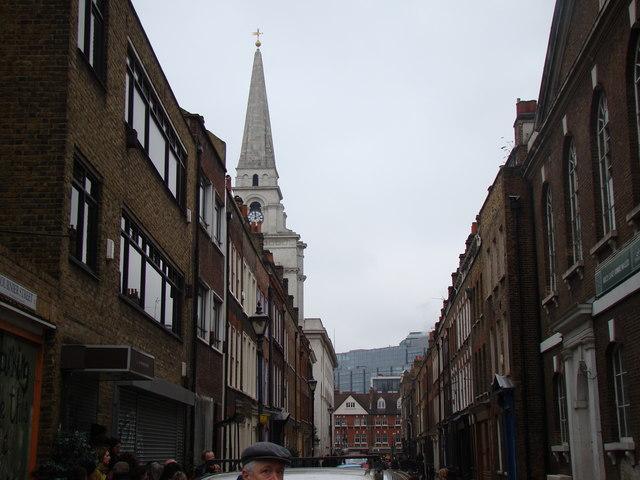 View down Fournier Street