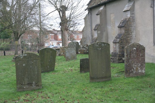 Graves along the north side