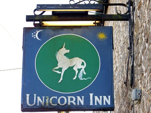 Sign for the Unicorn Inn