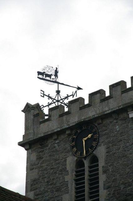 Clock and weather vane