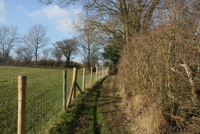 Footpath north to Busses Farm