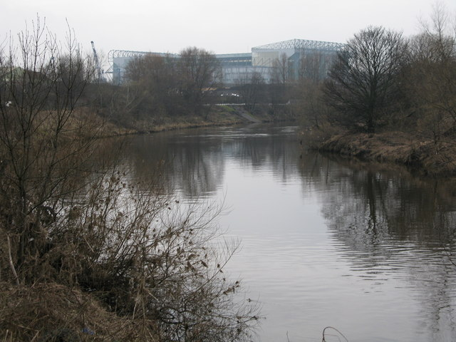 Bend on the River Clyde near Parkhead