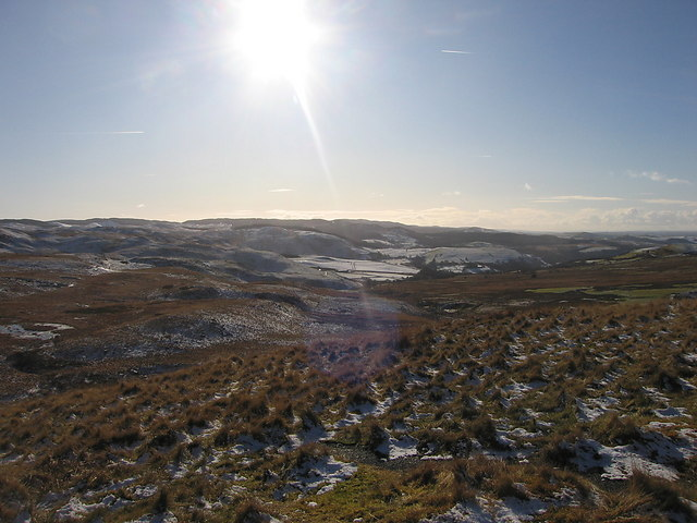 Upper Teifi basin from Lan Fraith