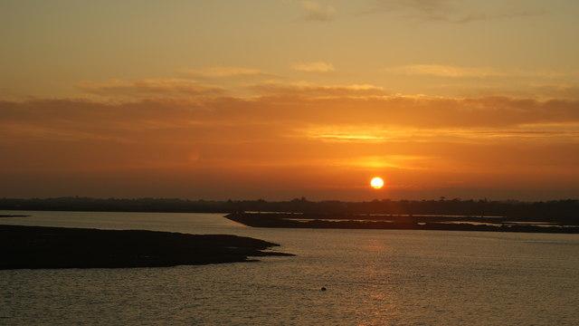Sunset Over Crooked Lake, Lymington