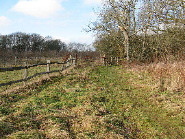 Stile and gate on path to Wellhouse Farm