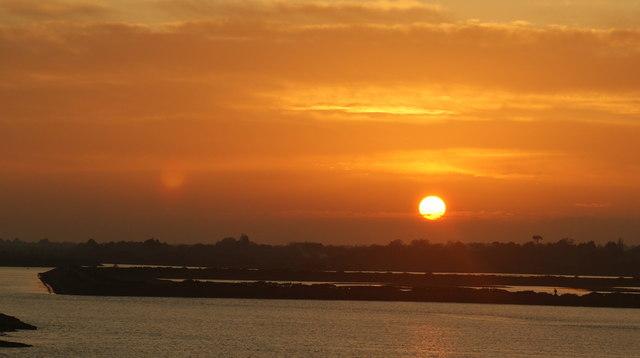 Sunset Over the Salt-marsh, Lymington