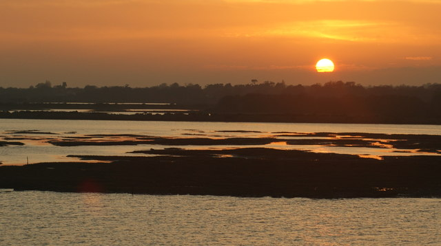 Sunset Over the Salt-marsh, Lymington