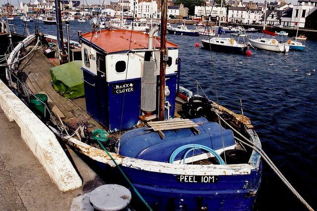 Peel - West Quay - Fishing boat  Manx Clover