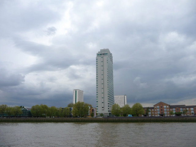 South Bank of The Thames in Rotherhithe, London
