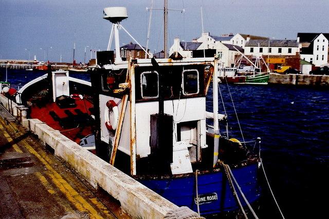 Peel - West Quay - Boat  June Rose