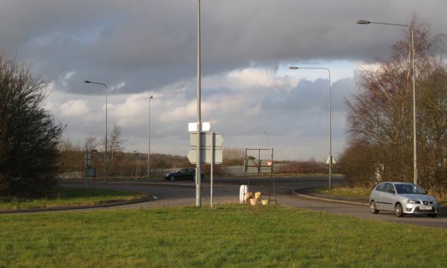 Traffic islands, A423