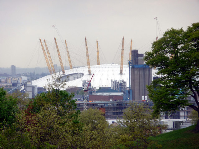 O2 Arena as seen from Greenwich Park