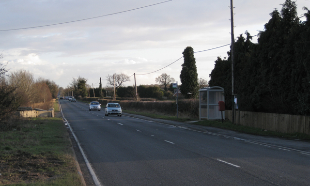 Bus stop, A423
