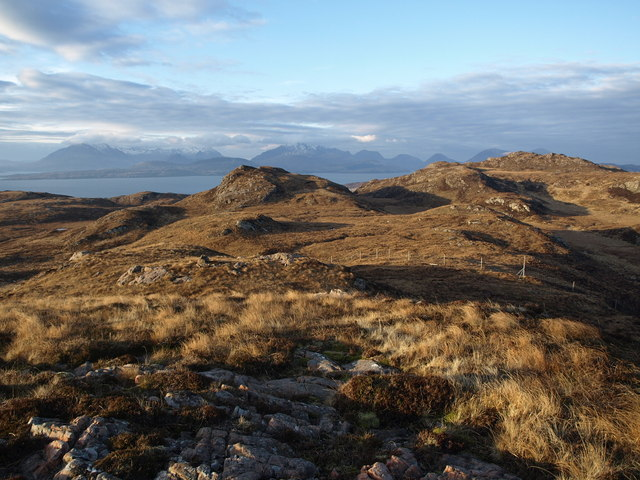 Cuillin and Sgurr Breac from above Coille Dalavil