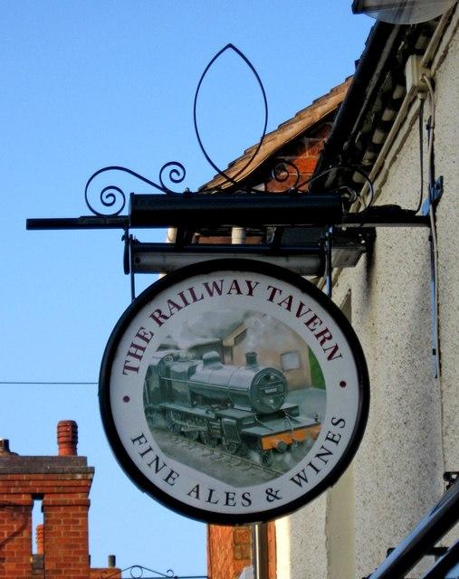 The Railway Tavern  sign, 62 Upper Bar