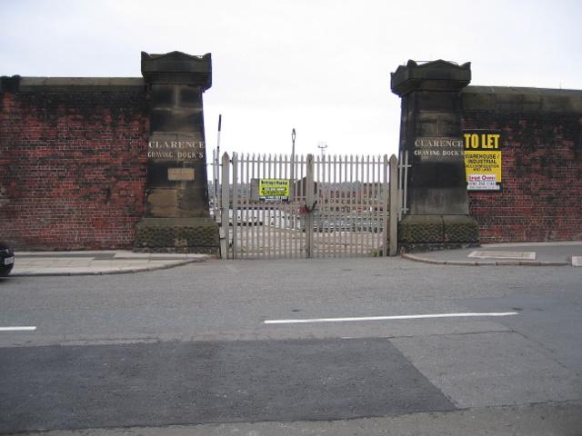 Gateway to Clarence Graving Docks