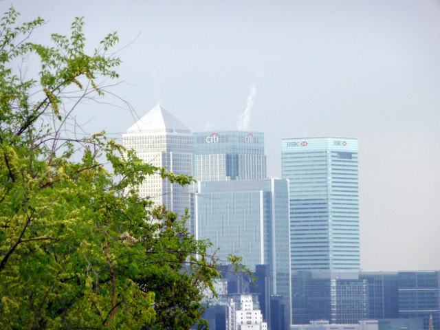 Canary Wharf from Greenwich Park