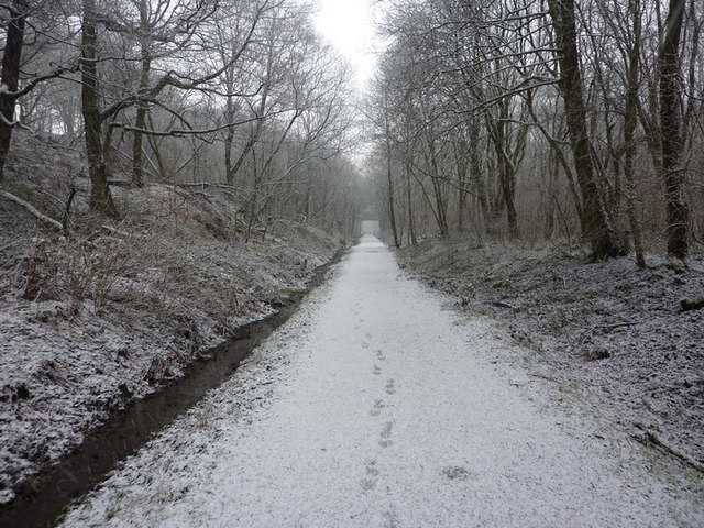 Footpath on the former Rochdale to Bacup Railway