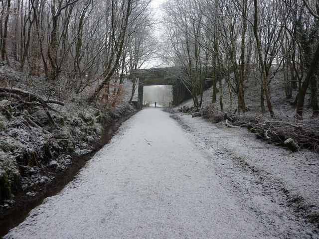 Footpath south of Station Road Bridge, Broadley