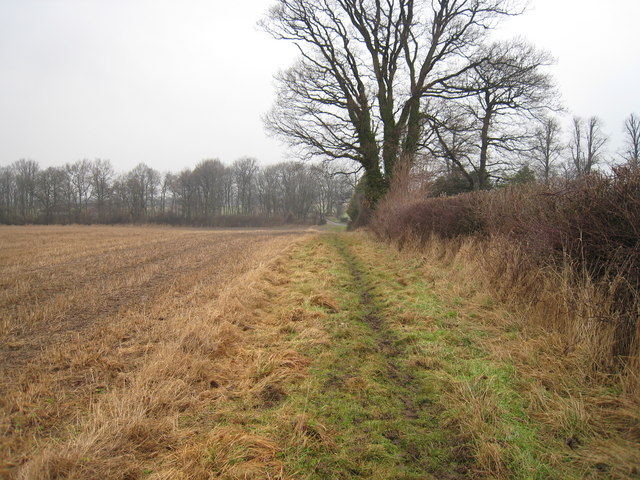 Public footpath near Crow Wood Farm, Little Broughton
