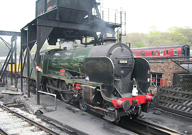Coaling stage at Grosmont