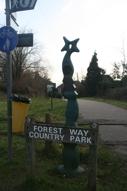 National Cycleway symbol, Forest Way Country Park