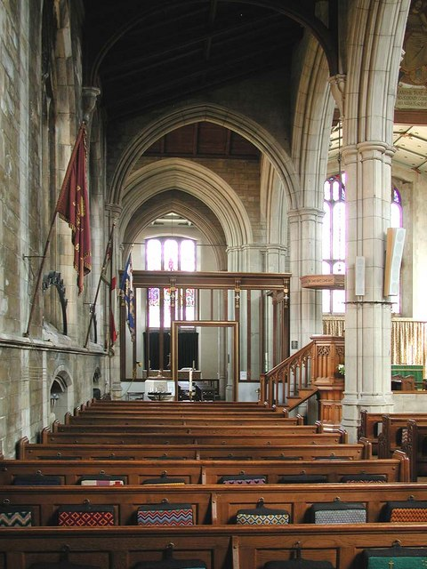 St John the Baptist, Sheepcote Road, Harrow - North aisle