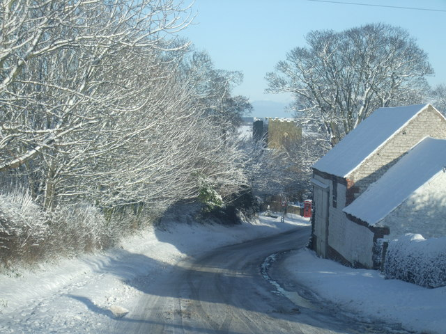 Folkton village in winter