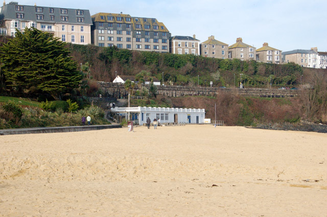 Looking northwest across Porthminster beach