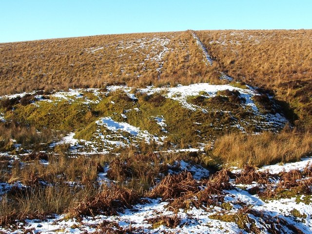 Mound beside the Spouts Burn