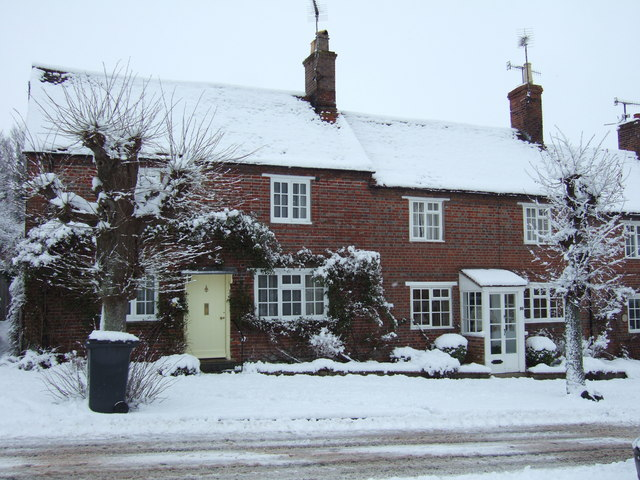Brick houses on the northeast side of High Street, Hindon