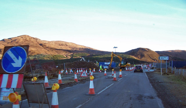 Roadworks near Sconser