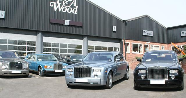 Rolls-Royce dealership forecourt © Peter Langsdale :: Geograph ...