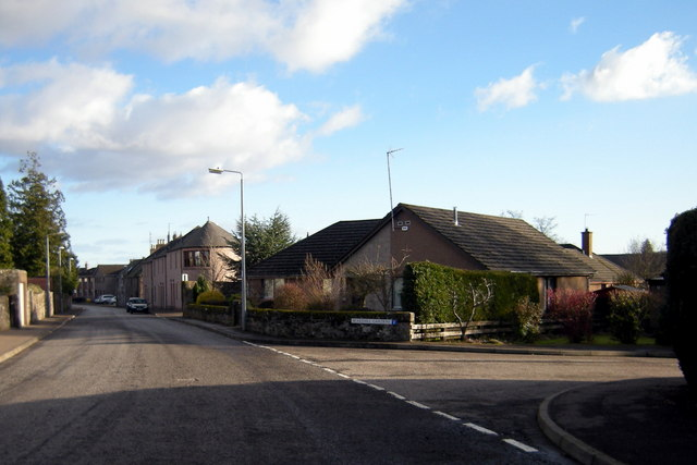 Airlie Street, Brechin at its junction with Bearehill Gardens