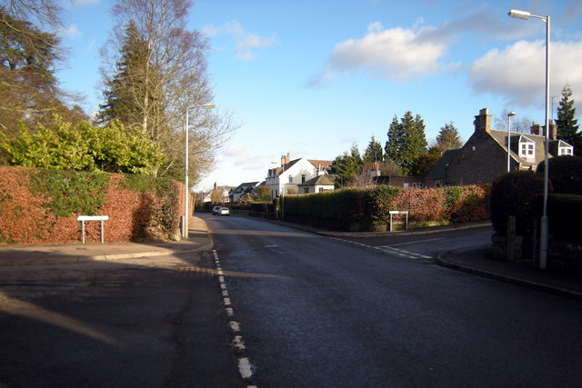 Latch Road, Brechin at its junction with Latch Gardens and Pearse Street