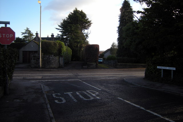 Cookston Crescent, Brechin at its junction with Trinity Road