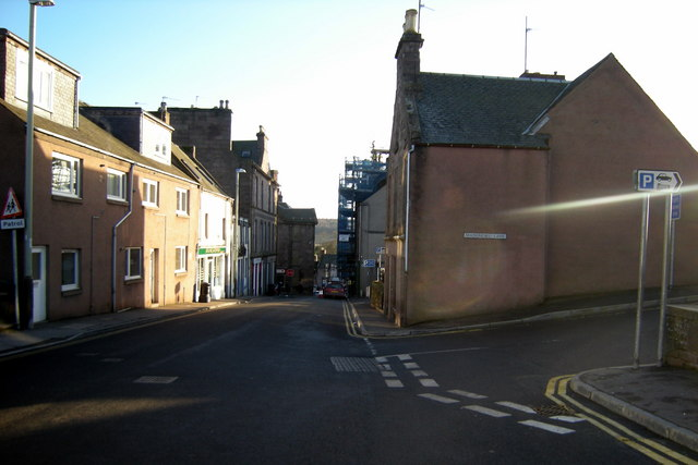 Market Street, Brechin, near its junction with Maisondieu Lane