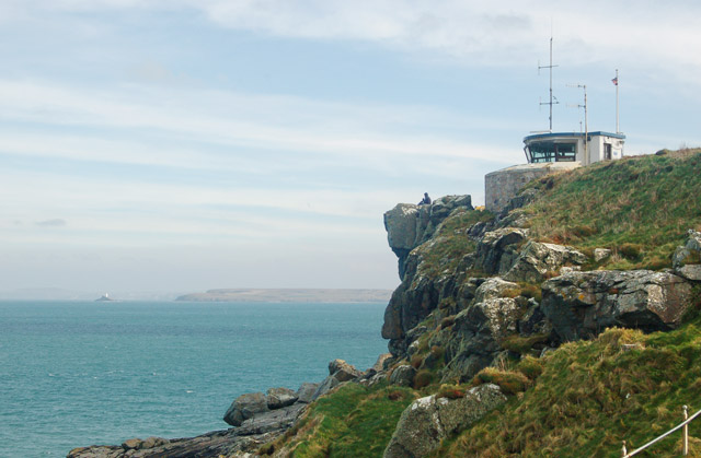 Looking east from St Ives coastwatch station towards Godrevy lighthouse