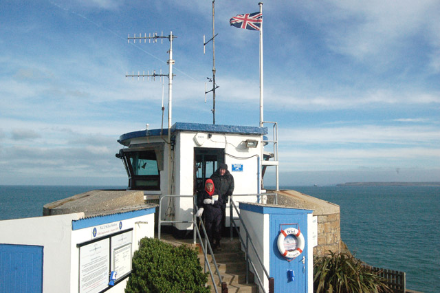 Visiting the National Coastwatch Institution station, St Ives