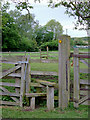 SJ6151 : Stile and public footpath, Stoneley Green, Cheshire by Roger  Kidd
