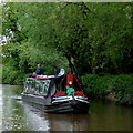 SJ6151 : Cruising on the Llangollen Canal near Ravensmoor, Cheshire by Roger  Kidd