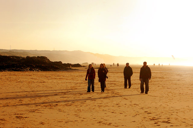 An evening stroll on Gwithian beach