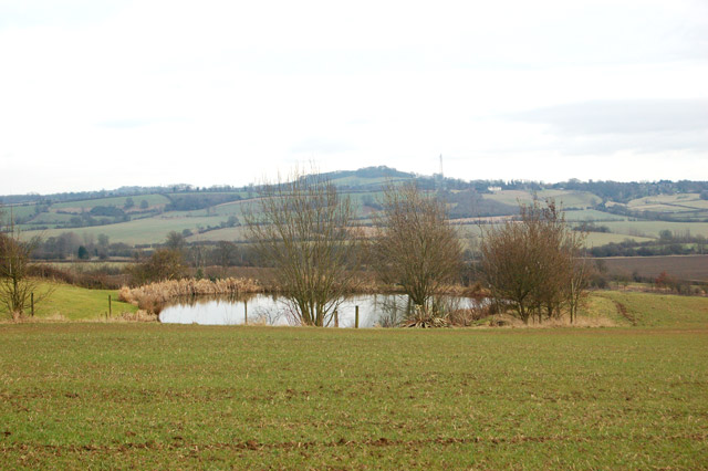 Looking east from Flecknoe with Staverton on the skyline