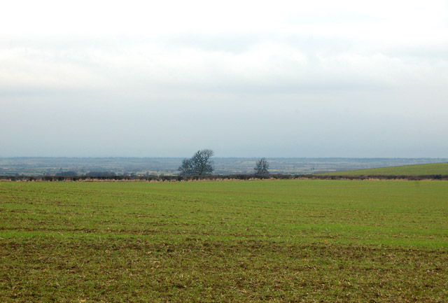 Looking west  from Flecknoe to the Leam valley