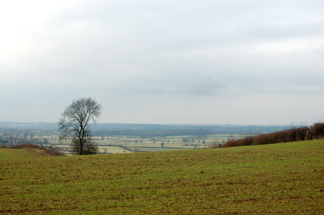 Looking west from Flecknoe towards the Leam valley