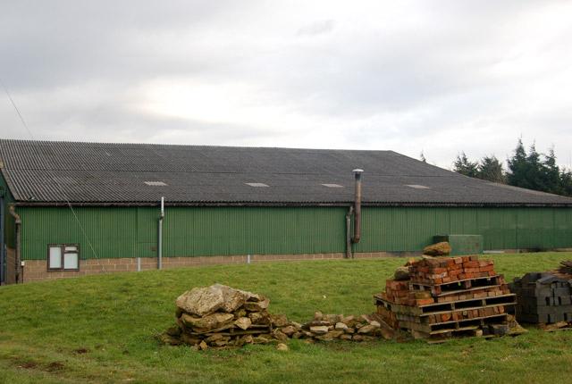 A modern barn south of Flecknoe