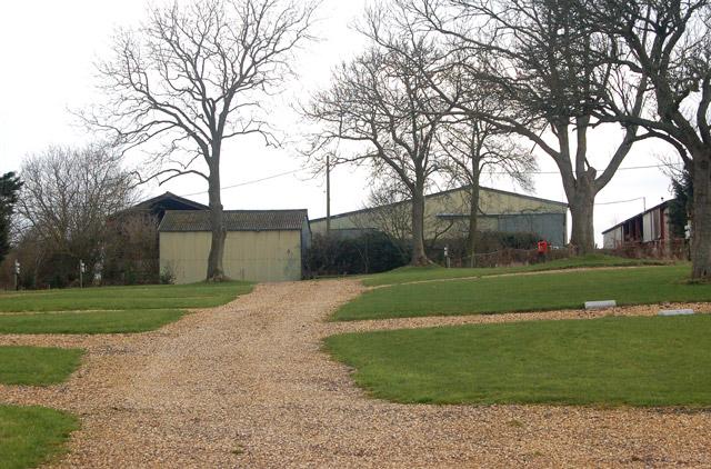Bush Hill campsite deserted in winter